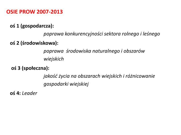 OSIE PROW 2007-2013
