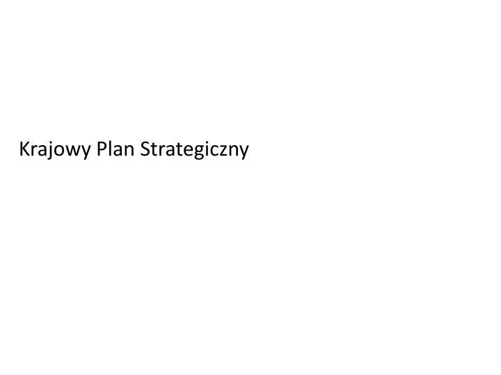 Krajowy Plan Strategiczny