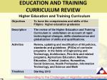 education and training curriculum review1
