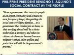 philippine president benigno s aquino s social contract w the people
