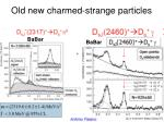 old new charmed strange particles