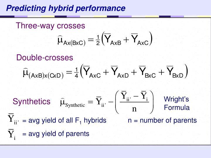 Predicting hybrid performance