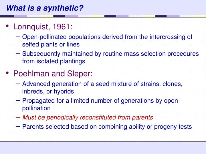 What is a synthetic?