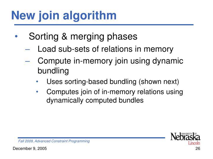 New join algorithm