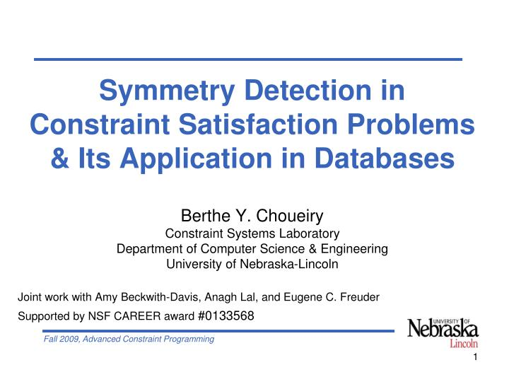 Symmetry Detection in