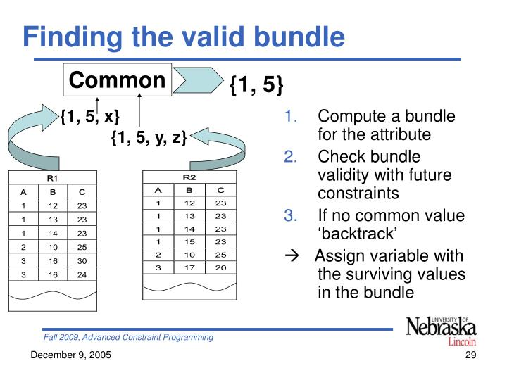 Finding the valid bundle