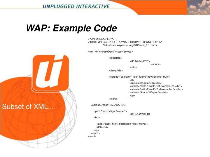 WAP: Example Code