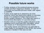 possible future works