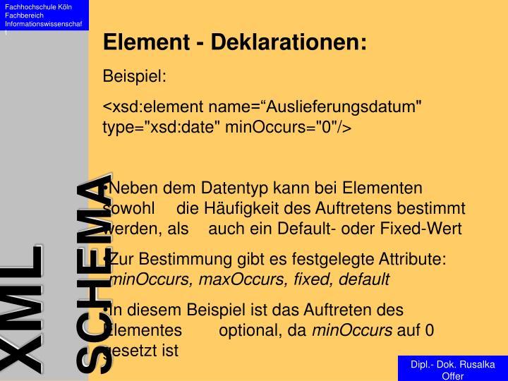 Element - Deklarationen: