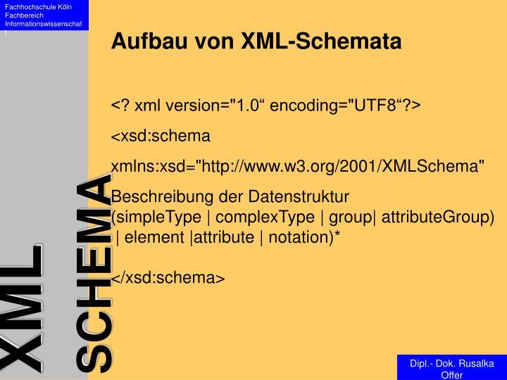 Aufbau von XML-Schemata