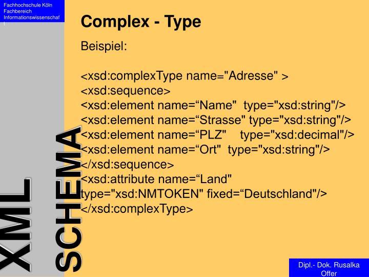 Complex - Type