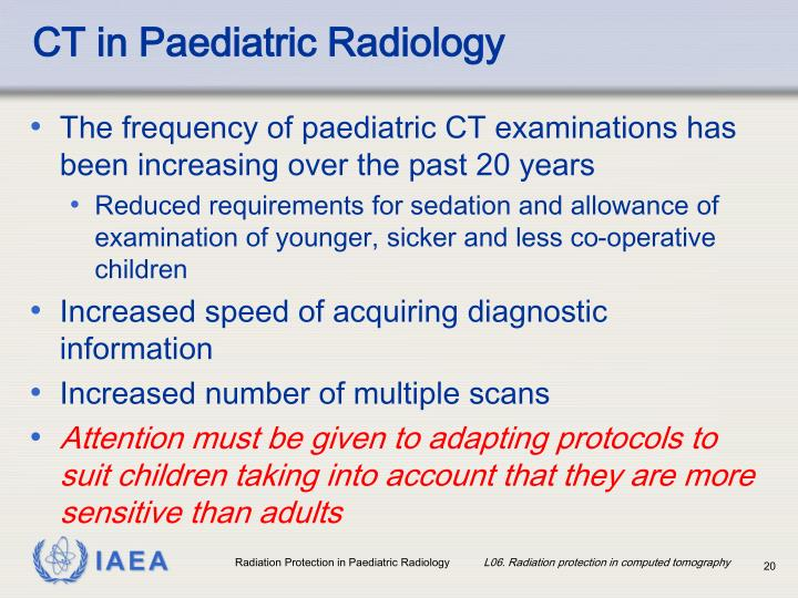 CT in Paediatric Radiology