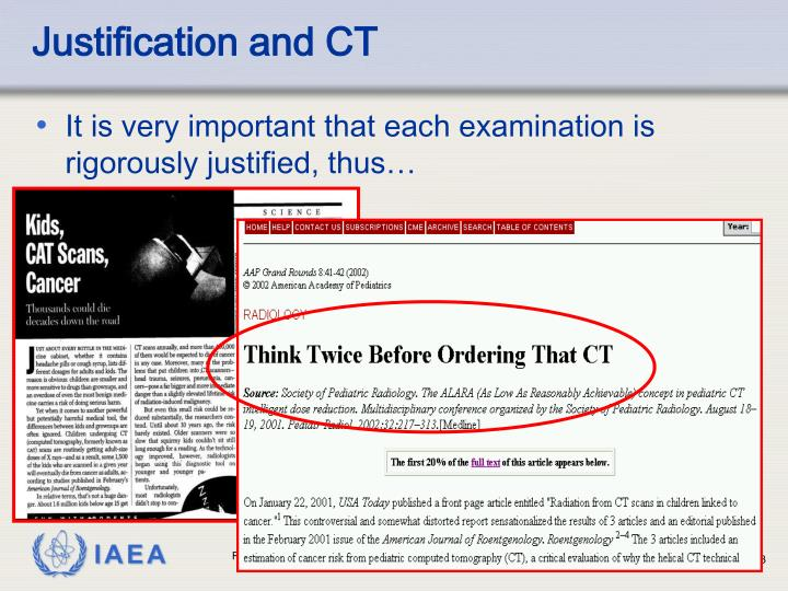 Justification and CT