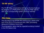 tx rf delay slot time