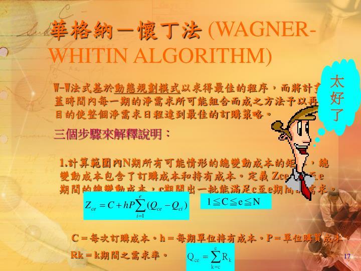 華格納-懷丁法