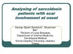 analysing of sarcoidosis patients with scar involvement at onset