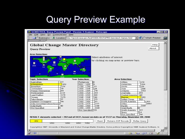 Query Preview Example
