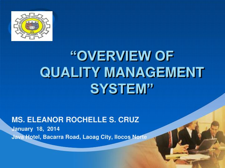 overview of quality management system n.