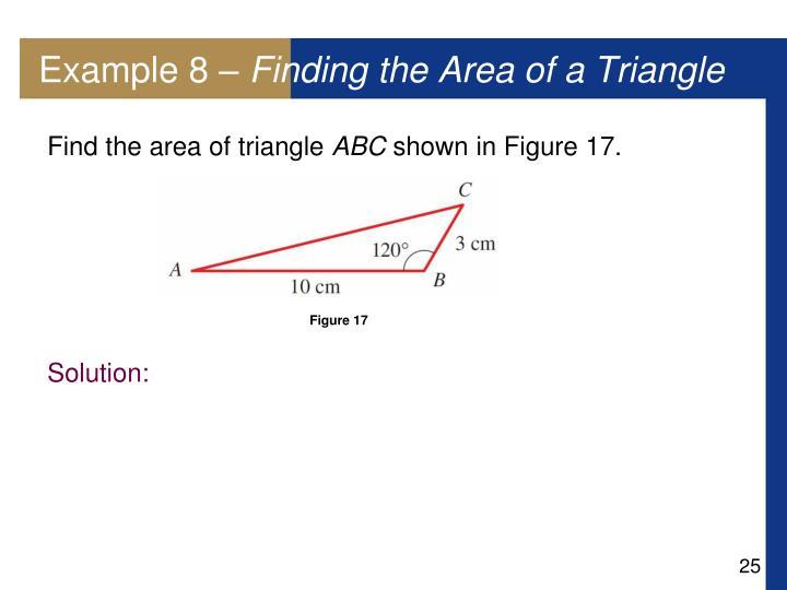 Example 8 –