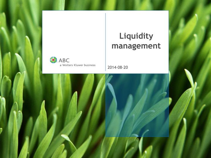 liquidity management n.