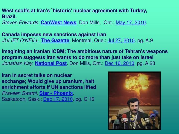 West scoffs at Iran's `historic' nuclear agreement with Turkey, Brazil.