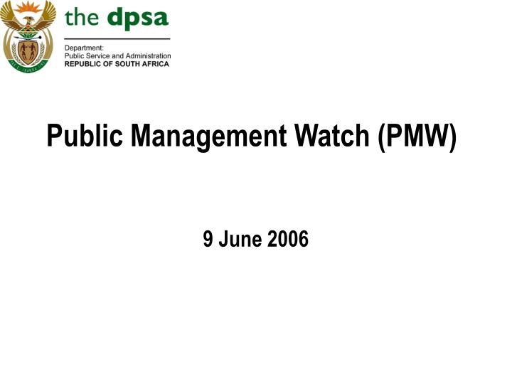 Public management watch pmw