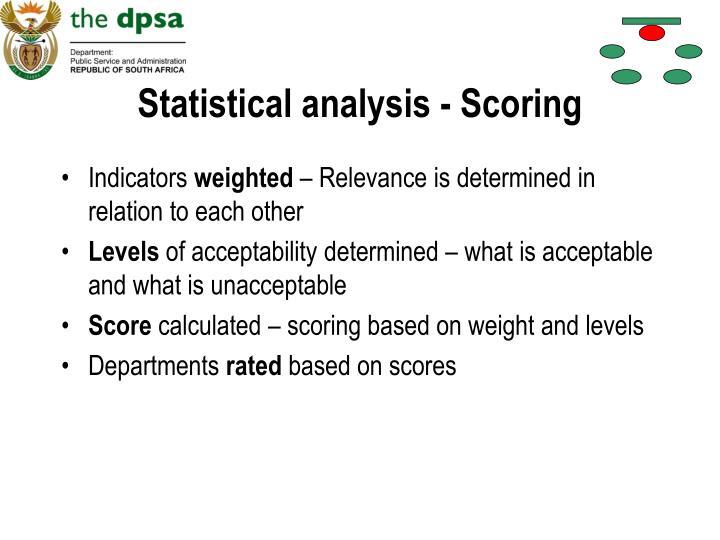 Statistical analysis - Scoring