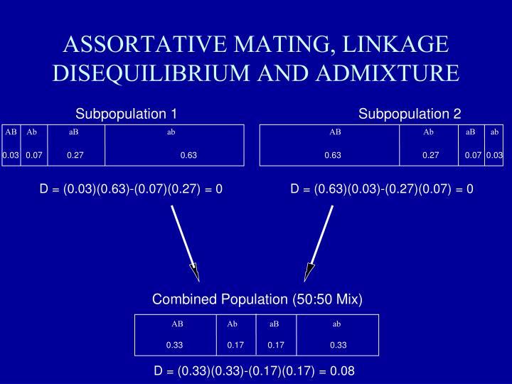 ASSORTATIVE MATING, LINKAGE DISEQUILIBRIUM AND ADMIXTURE