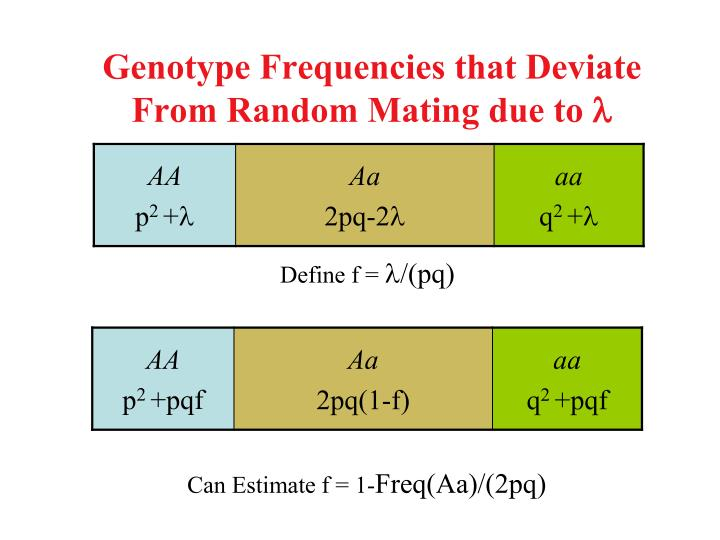Genotype Frequencies that Deviate From Random Mating due to