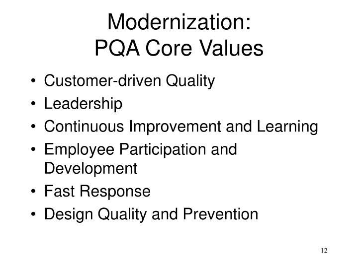 Modernization: