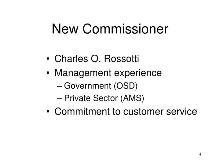 New Commissioner