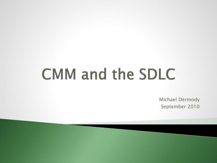 cmm and the sdlc