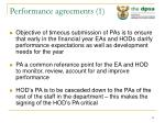performance agreements 1