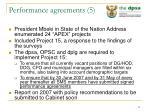 performance agreements 5