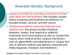 amenable mortality background1
