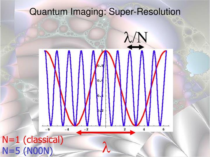 Quantum Imaging: Super-Resolution