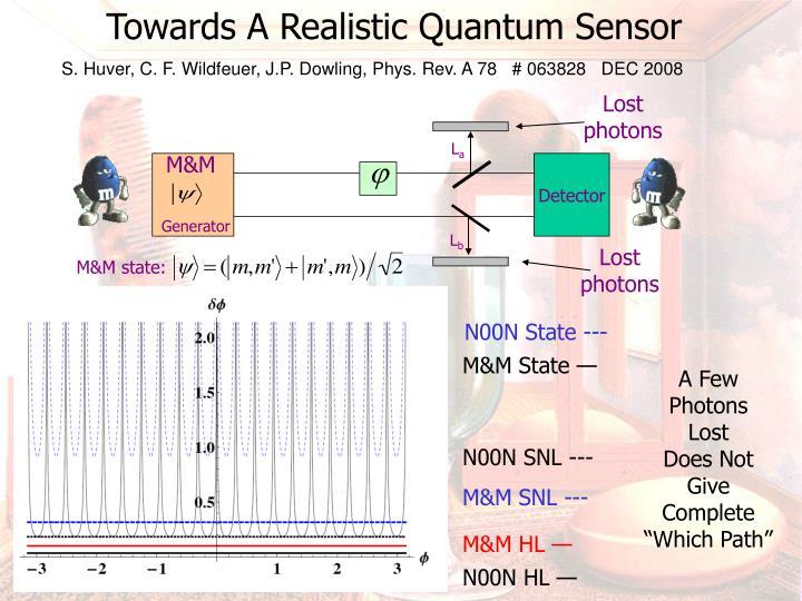 Towards A Realistic Quantum Sensor