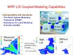wrf lis coupled modeling capabilities
