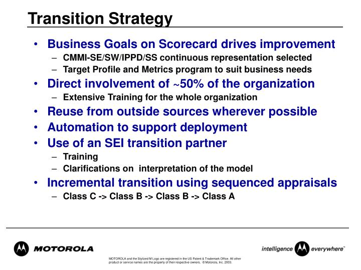 Transition Strategy