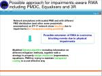 possible approach for impairments aware rwa including pmdc equalisers and 3r