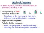 matroid games