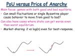 pou versus price of anarchy