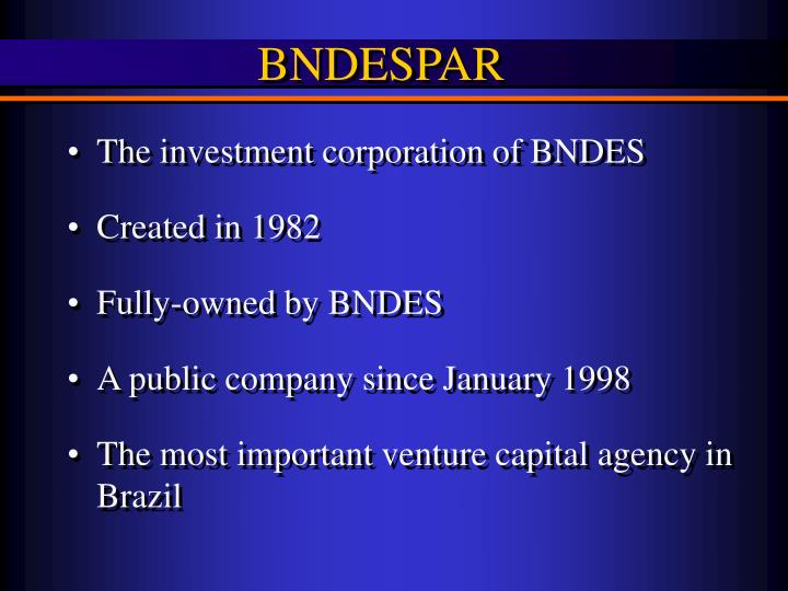 The investment corporation of BNDES