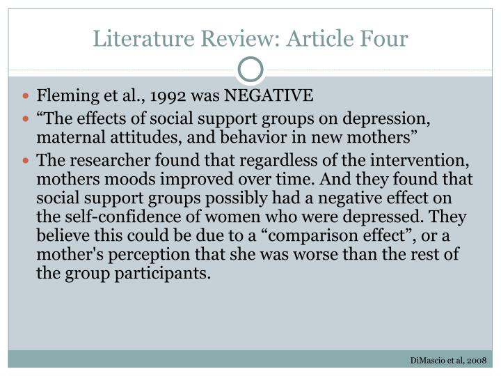 Literature Review: Article Four