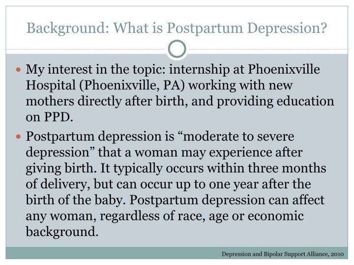Background: What is Postpartum Depression?