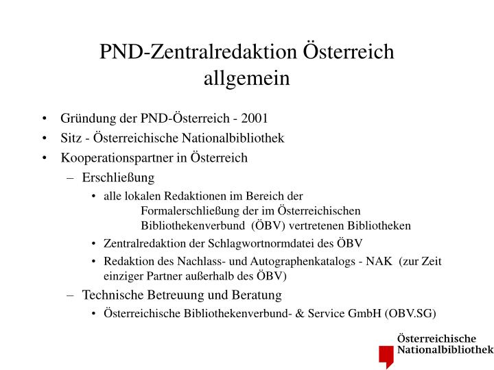 PND-Zentralredaktion Österreich