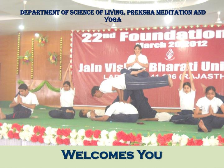 department of science of living preksha meditation and yoga n.