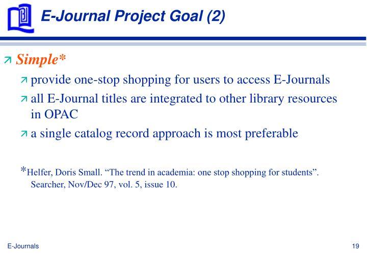 E-Journal Project Goal (2)
