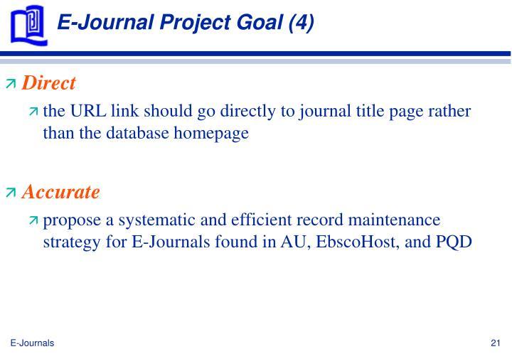 E-Journal Project Goal (4)