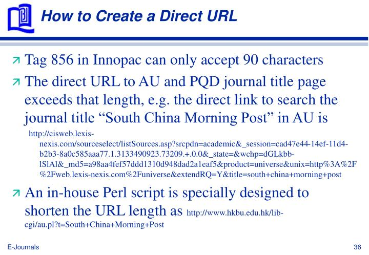 How to Create a Direct URL